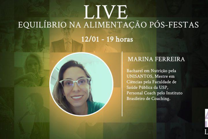 Live com Marina Ferreira